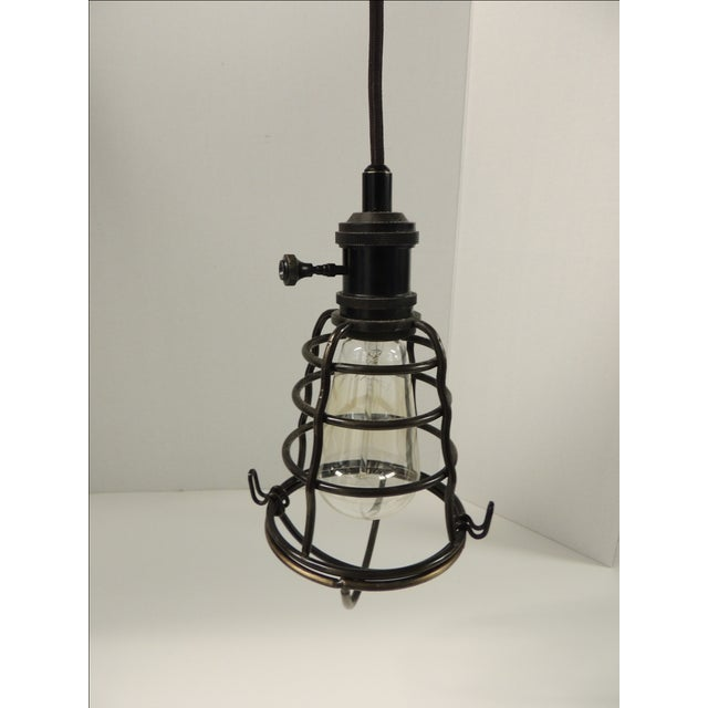 Formation Style Industrial Cage Pendant Light - Image 2 of 4