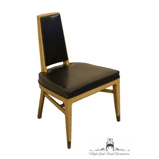 Late 20th Century Vintage White of Mebane Black Naugahyde and Pewter Dining Side Chair Preview