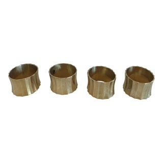 Vintage Solid Brass Napkin Rings - Set of 4