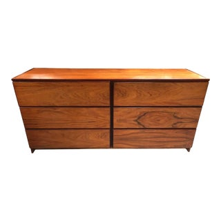 Vintage Six Drawer Rosewood Dresser For Sale