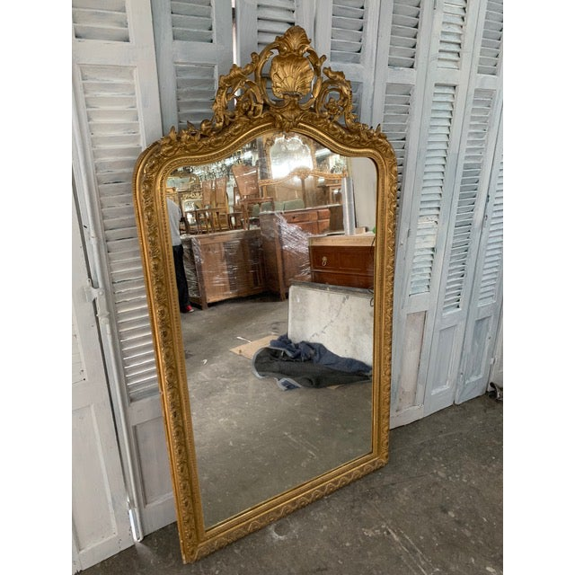 French Provincial 18th Century French Louis Philippe Period Mirror For Sale - Image 3 of 7