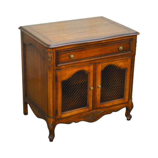 Kindel Beauclair French Louis XV Style Vintage Fruitwood Nightstand For Sale