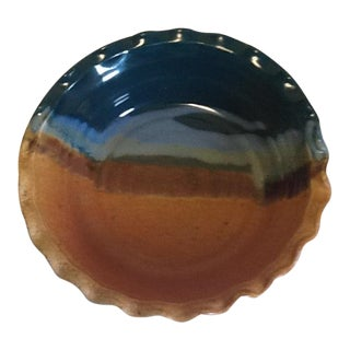 Sunset Canyon Pottery Pie Plate – Earth and Sky Pattern For Sale