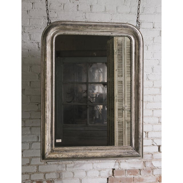 19th century mirror, silver leaf gilded in the style of Louis Philippe,, Provenance France