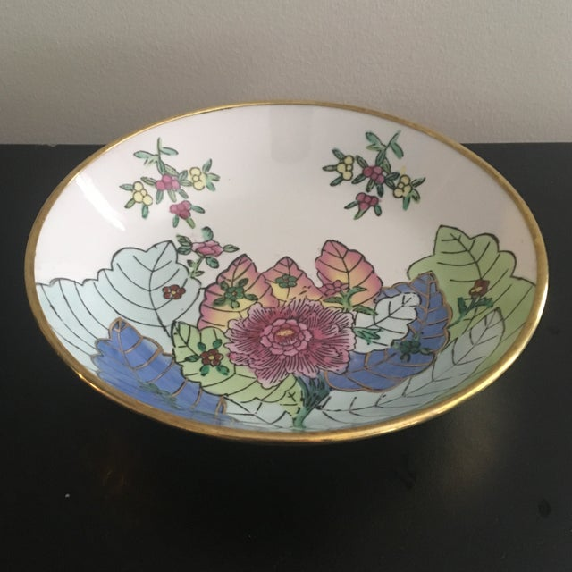 Beautiful decorative bowl in the forever timeless tobacco leaf pattern is also ready to hang on the wall. Please note this...