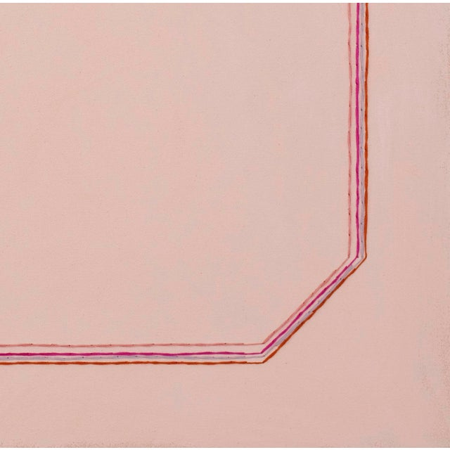 """Contemporary Snail Pink Bevel Minimalist 16"""" Art Print For Sale - Image 3 of 3"""