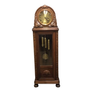 Antique Early 20th Century A. Kieninger German Grandfather Clock For Sale