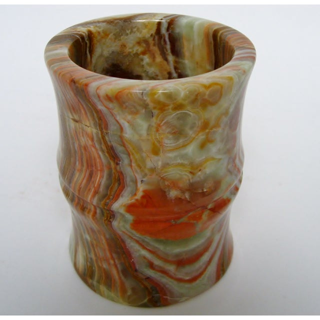 Carved Agate Pen Holder - Image 5 of 8
