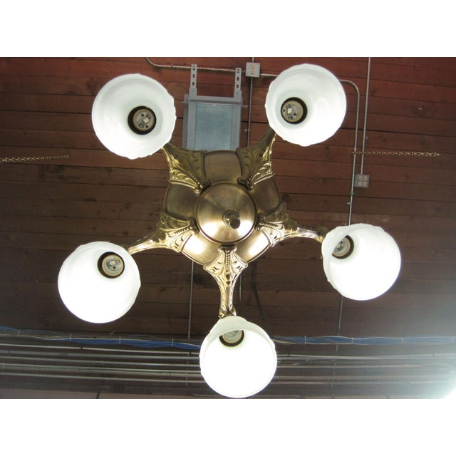 Original Pan Light Fixture (5-Light) For Sale - Image 5 of 8