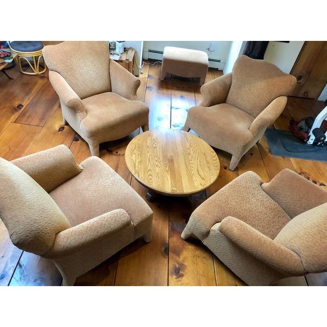 1990s Vintage John Hutton Style Club Chairs Pair For Sale - Image 9 of 13