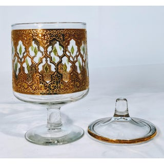 Culver Valencia Gold Glass Candy Dish Preview