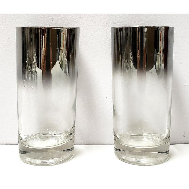 1970s Dorothy Thrope Mirrored Glases& Ice Bucket Set W/ Stand - Set for 8 For Sale - Image 5 of 10