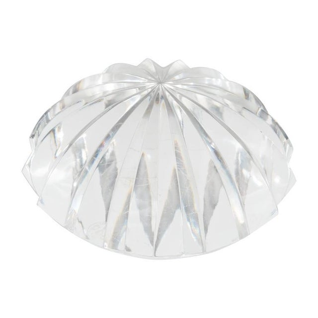 Glass Baccarat Radial Faceted Paperweight or Objet D'Art For Sale - Image 7 of 7