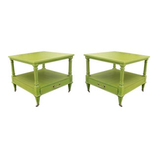 Mid-Century Two Tiered Side Tables - A Pair For Sale
