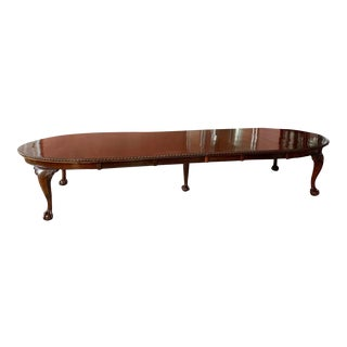 Maple & Co. English Chippendale Style Extendable Dining Table For Sale