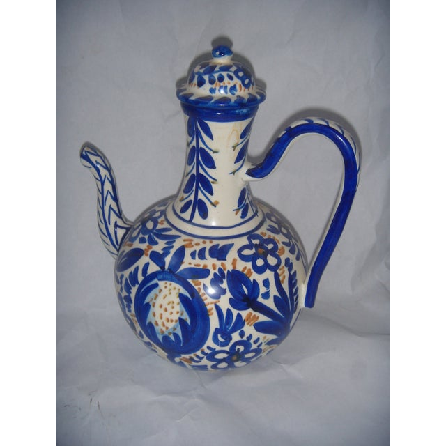 Blue & Gold Hand Painted Teapot - Image 2 of 9