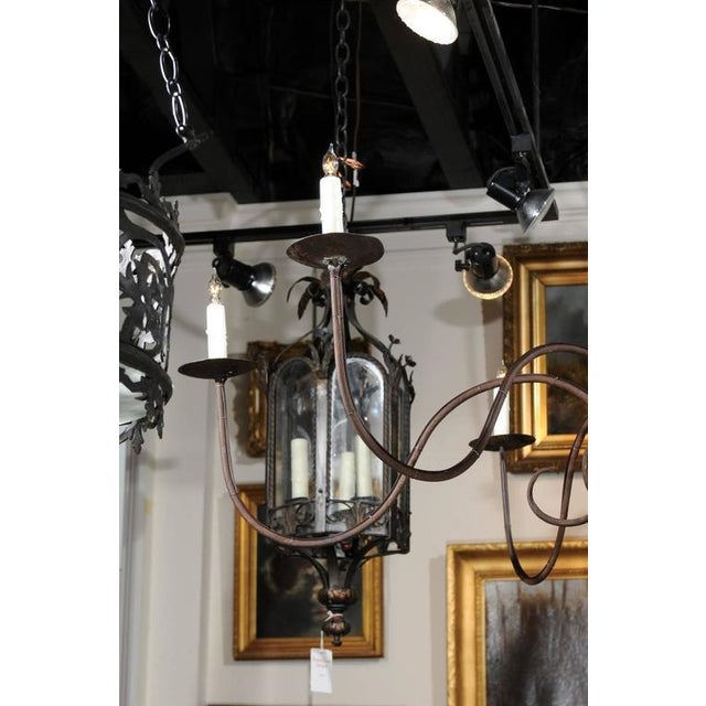 Sophisticated italian large early 20th century six light wood and italian large early 20th century six light wood and iron candelabra chandelier image 5 aloadofball Image collections
