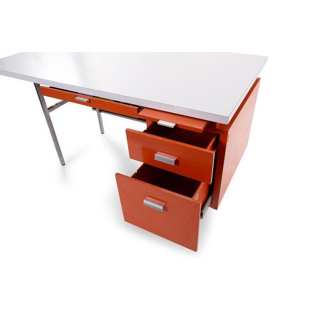 George Nelson George Nelson Herman Miller Modern Management Desk & Return - 2 Pc. Set For Sale - Image 4 of 9