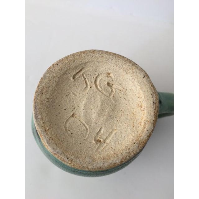 Vintage Green Ceramic Pitcher - Image 4 of 4