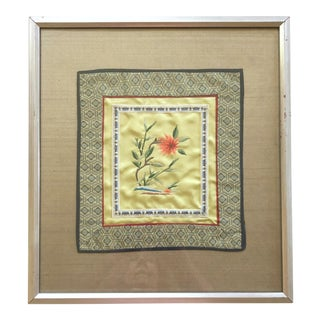 Chrysanthemum Silk Framed For Sale