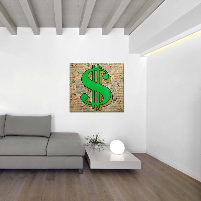 """Green """"Cash Money 2"""" Original Artwork by Sean Keith For Sale - Image 8 of 11"""