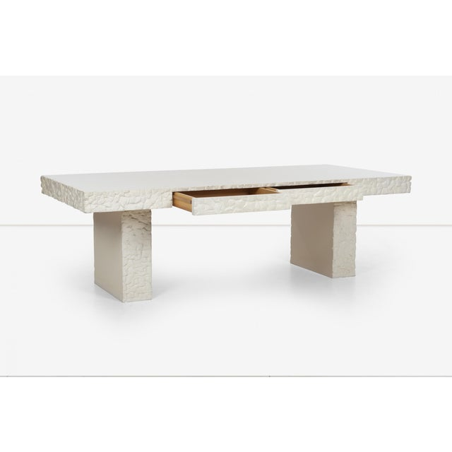 Tan John Dickinson Minimalistic Writing Desk For Sale - Image 8 of 13