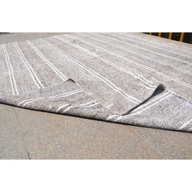 Turkish Stripe Kilim Rug - 6′5″ × 8′2″ For Sale In Austin - Image 6 of 6