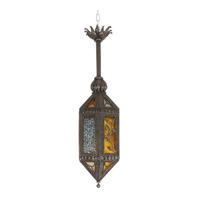 Kiss Wrought Iron Lantern For Sale