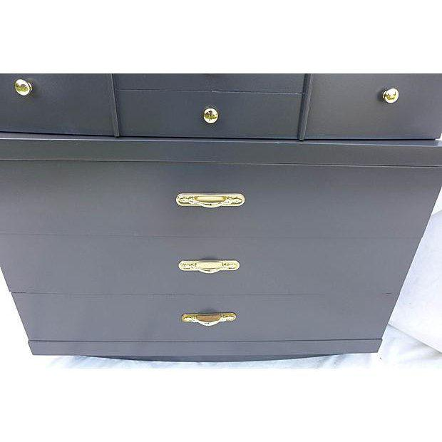 Urban Style Step-Down Tall Dresser in Asian Black For Sale In New York - Image 6 of 8