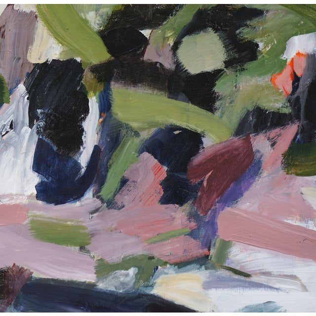 """Laurie MacMillan Abstract Laurie MacMillan """"Opposites Attract"""" Painting For Sale - Image 4 of 7"""
