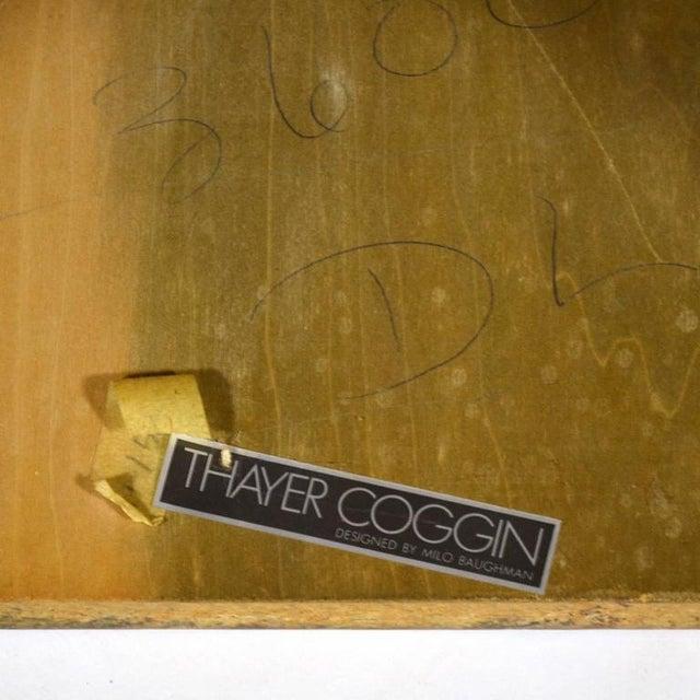 Wood Milo Baughman Burl Patchwork Pedestal/ End Table by Thayer Coggin For Sale - Image 7 of 9