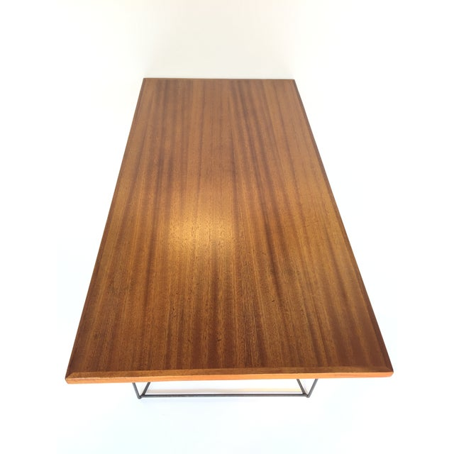Luther Conover Mahogany and Iron Table, 1950 For Sale - Image 9 of 11
