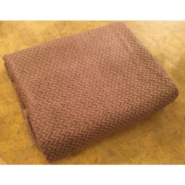Large Pink Cashmere Blanket - Image 4 of 11