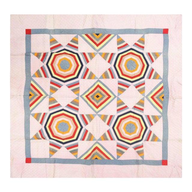 Antique American Quilt Blanket For Sale