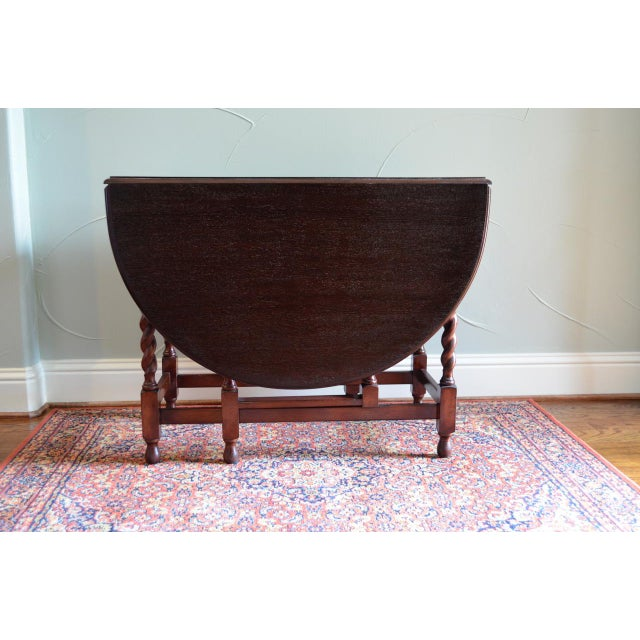 Americana Early 20th Century Antique English Oak Table For Sale - Image 3 of 7