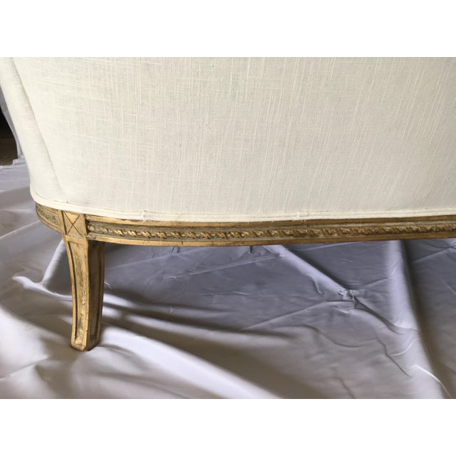Gold Vintage Gilt French Settee For Sale - Image 8 of 11