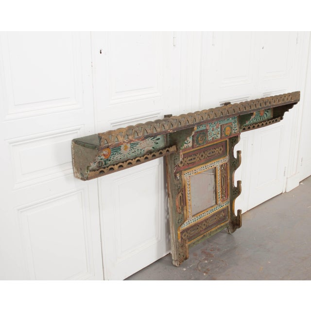Anglo-Indian Austrian Early 19th Century Hand-Painted Pine Wall Mounted Coat Rack For Sale - Image 3 of 13