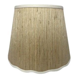 Heath Original Scallop Grass Cloth Lamp Shade For Sale