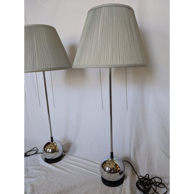 Mid-Century Modern George Kovacs Chrome Table Lamps - a Pair For Sale - Image 3 of 12