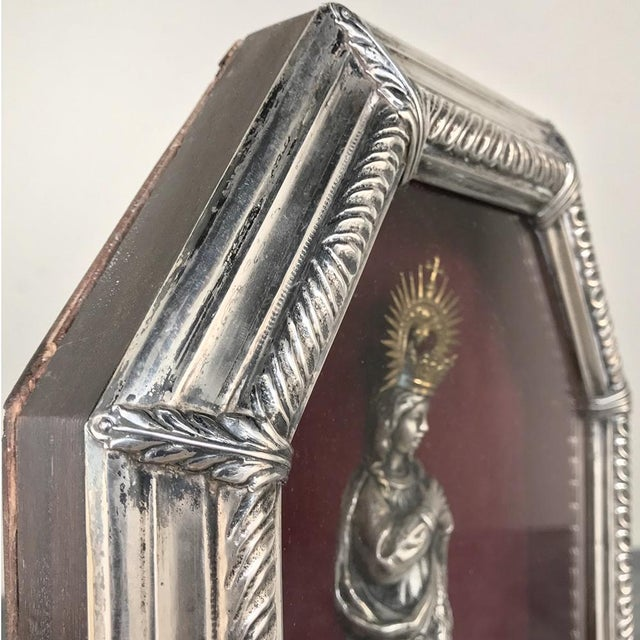 19th Century Madonna in Octagonal Frame For Sale - Image 9 of 12