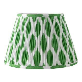"Signature Ikat in Green 16"" Lamp Shade, Kelly Green For Sale"