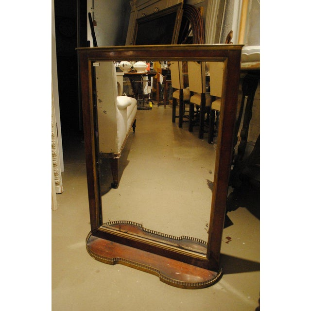 Silver 19th Century Mahogany Mirror with Shelf For Sale - Image 8 of 8