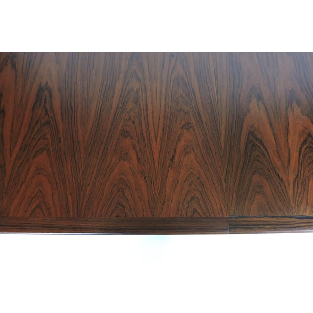 Danish Modern Arne Vodder Expandable Danish Modern Rosewood Dining Conference Table Model 201 For Sale - Image 3 of 13