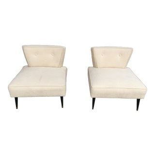 Mid Century Modern Slipper or Lounge Chairs - a Pair For Sale