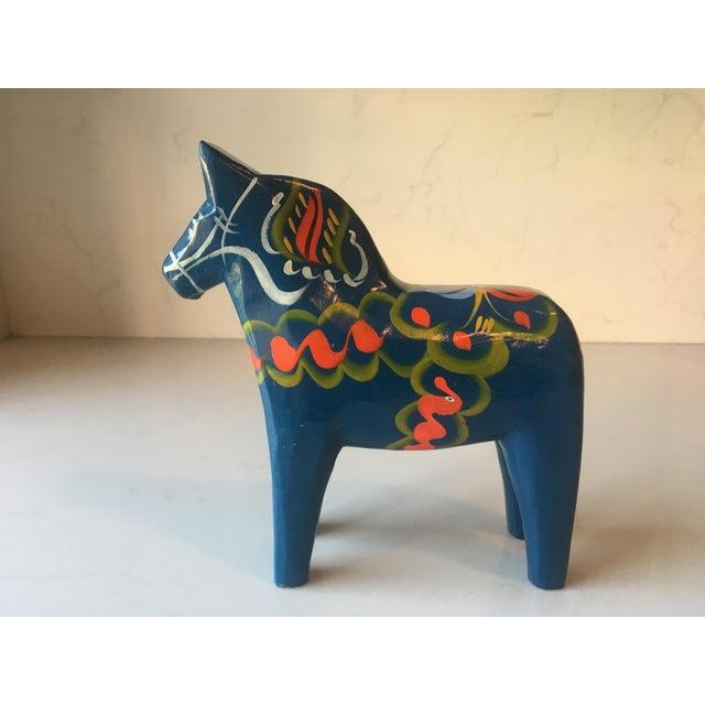 Vintage Nils Olsson Swedish Dala Horse For Sale - Image 4 of 6