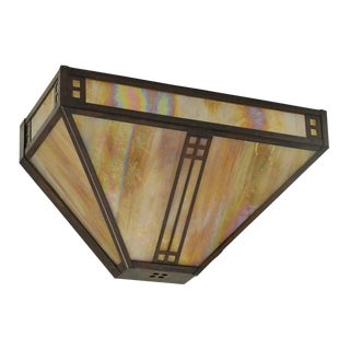Arts & Crafts Stained Glass Sconce For Sale