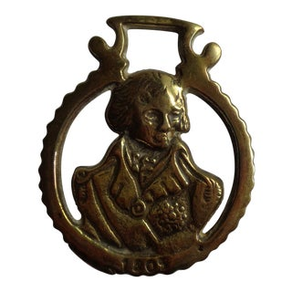 Antique Lord Nelson Horse Brass Bridle Decoration For Sale