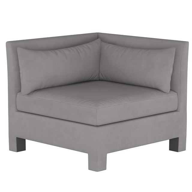 Velvet Otter 4 Piece Sectional For Sale In Chicago - Image 6 of 9