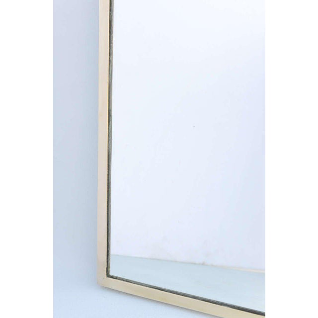 Gothic Arch Mirror in Brass Frame For Sale - Image 4 of 10