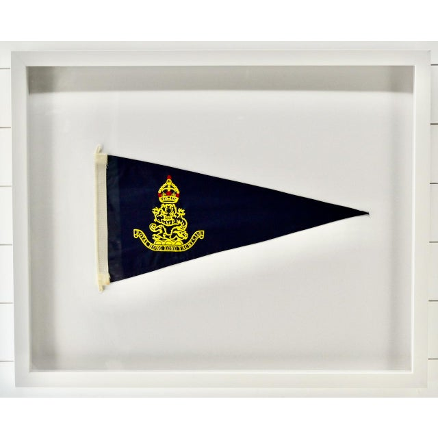 Vintage Royal Hong Kong Yacht Club Burgee, Flag, Pennant For Sale - Image 4 of 4